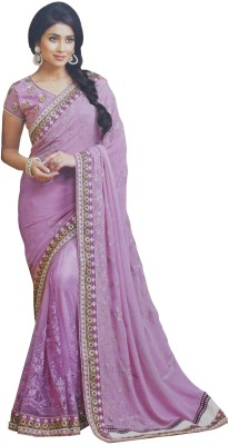 SAHAJ Embellished Fashion Georgette, Net Sari