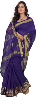 Meetu Striped Fashion Cotton Linen Blend Sari