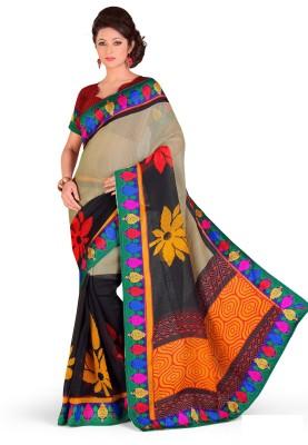 Design Willa Printed Fashion Cotton Linen Blend Sari