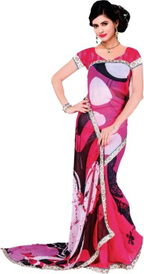 Sanidhya Printed Fashion Georgette Sari