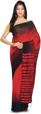 FabIndian Woven Ikkat Handloom Silk Cotton Blend Sari