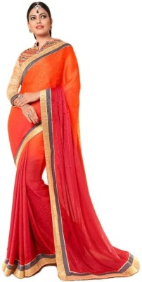 Hoor Self Design Fashion Jacquard, Satin, Chiffon Sari