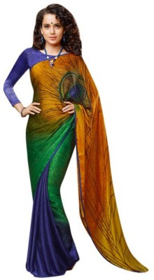 Makekaartz Printed Bollywood Art Silk Sari