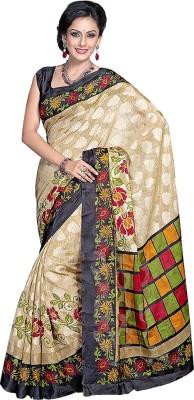 Nistulaa Floral Print Bhagalpuri Handloom Silk Sari
