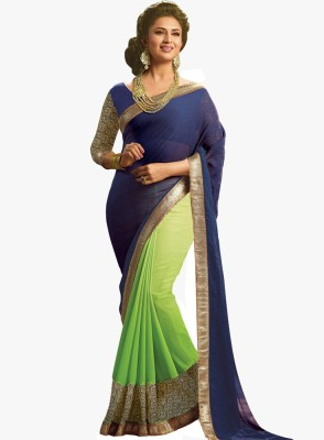 Festive Self Design Bollywood Handloom Georgette Sari