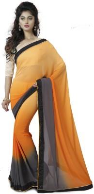 Mutiar Plain Fashion Silk Sari