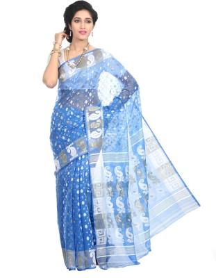 Crochetin Woven Jamdani Handloom Art Silk Sari