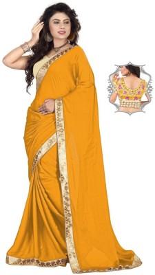 Stylezone Embriodered Fashion Satin Sari