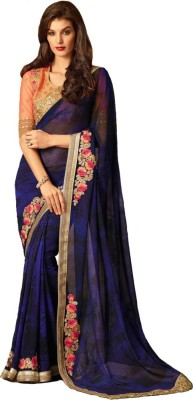 Reet Creation Embriodered Fashion Georgette Sari
