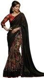 Hian Self Design Bollywood Georgette Sar...