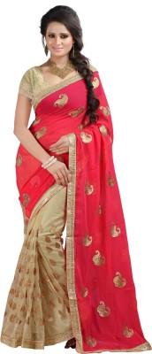Fashiondeal Embriodered Fashion Net Sari
