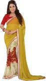 Manthan Printed Daily Wear Georgette Sar...