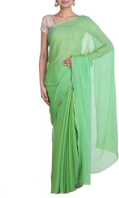 REME Solid Fashion Chiffon Sari