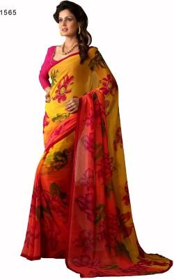 Hi-Choice Printed Fashion Chiffon Sari