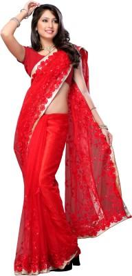 Elegant Fashion Embriodered Bollywood Net Sari