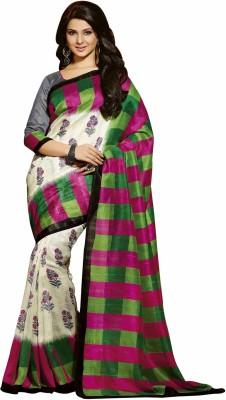 Trendiez Printed Bhagalpuri Art Silk Sari