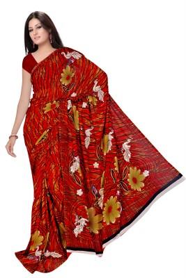 Arch Printed Fashion Art Silk Sari