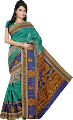 JTInternational Printed Bhagalpuri Silk Sari