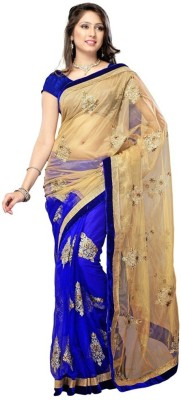 Lady Berry Self Design Fashion Handloom Net Sari