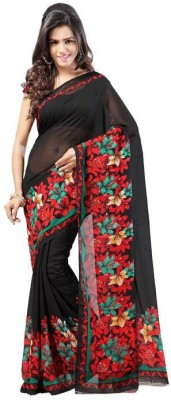 AVR FASHIONS Floral Print Daily Wear Georgette Sari