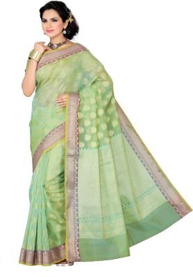 Mann Solid Banarasi Net Sari