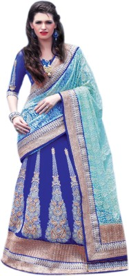 Allol Embriodered Fashion Net, Viscose Sari