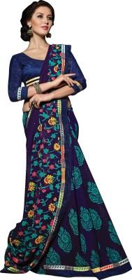 Jiya Self Design, Printed, Embellished Fashion Georgette, Satin, Chiffon Sari