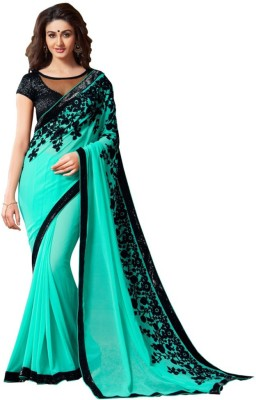 Fashion Gallery Embriodered Daily Wear Georgette Sari