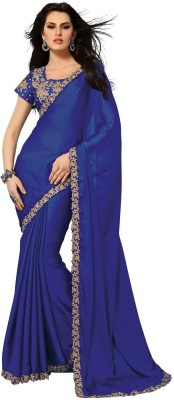 Subhash Sarees Self Design Daily Wear Satin Sari