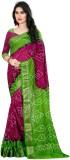 TryDeals Printed Bandhani Jacquard Saree...