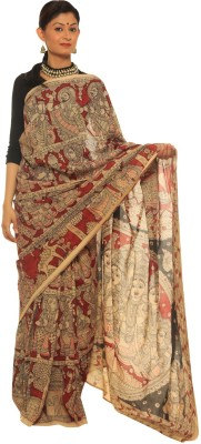 Indo Mood Hand Painted Fashion Silk Sari