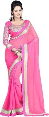 HIRA CREATION Embriodered Fashion Georgette Sari