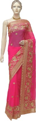 Veena Saree Embriodered Bollywood Chiffon Sari