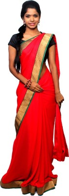 Avantika Plain Fashion Handloom Georgette Sari