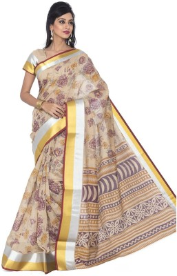Jevi Prints Geometric Print Gadwal Cotton Sari