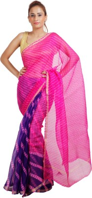 KotaDoriaSilk Self Design Leheria Handloom Pure Silk Sari