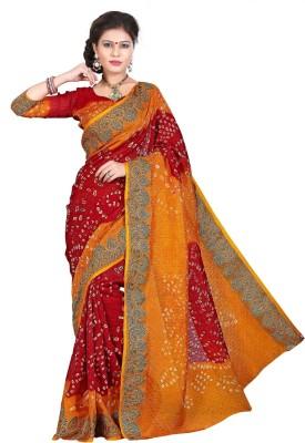TryDeals Self Design Bandhani Art Silk, Jacquard Sari