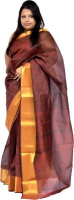 Gulmohaar Self Design Bollywood Tissue Silk Sari