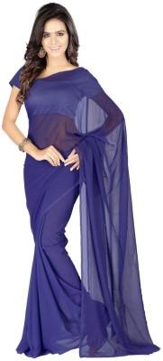 Chandramoulifashion Solid Fashion Georgette Sari