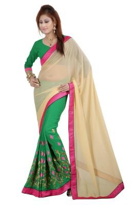 Gunjan Creation Embriodered Fashion Pure Georgette Sari