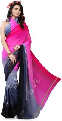 Waahdil Fashion Floral Print Bollywood Georgette Sari