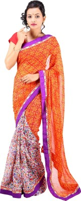 Ethnic Fashion Boutique Printed Fashion Handloom Georgette Sari
