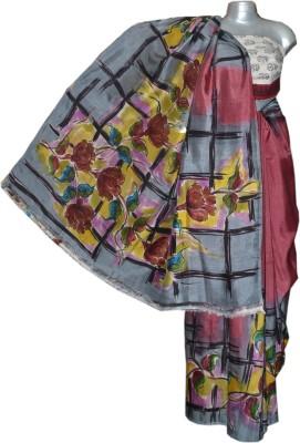 Kreasions Floral Print Fashion Handloom Silk Sari