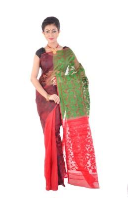 ksc Self Design Jamdani Handloom Art Silk Sari