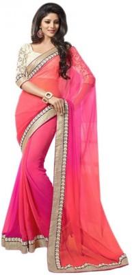 SwaruAndSanju Self Design Bollywood Georgette Sari