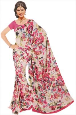 Toran Floral Print Fashion Georgette Sari