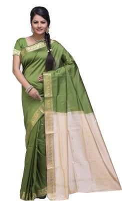 Ishin Solid Fashion Poly Silk Sari