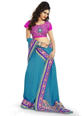 Chhabra Xclusive Embriodered Fashion Georgette Sari