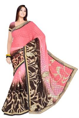 OM12 Self Design Fashion Lace Sari