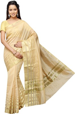 Pavechas Plain Banarasi Silk Cotton Blend Sari